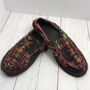 Sanuk boho southwestern slip on loafers